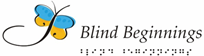 Image shows the Blind Beginnings Logo