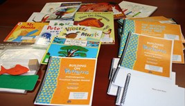 Various materials available in the Building On Patterns: Pre-K kit.